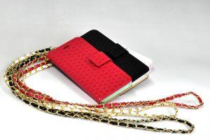 【iPhone6/6 Plus】チェーン付き手帳型レザーケースオリジナル制作開始のお知らせ